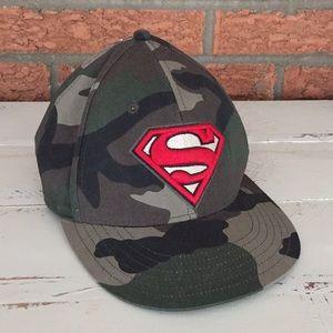 Authentic DC Comics Superman Camo Snap Back Hat
